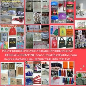 belajar sablon di Elelim Dsekar Printing 087762621978