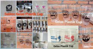 kursus sablon gelas plastik minuman cup